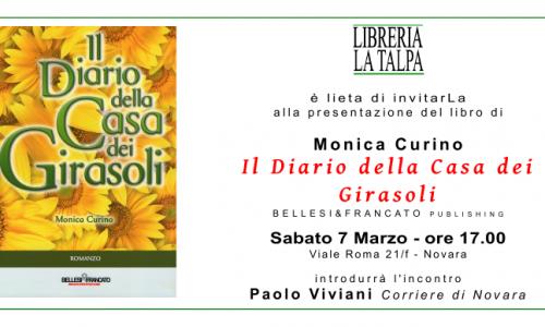 """Alla libreria La Talpa, Monica Curino presenta """"Il Diario della Casa dei Girasoli"""""""