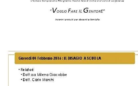 IL DISAGIO A SCUOLA: il 4 febbraio incontro con due psicologi all'Istituto Margherita Hack di Novara