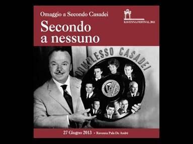 """E' uscito il dvd """"SECONDO A NESSUNO"""" Uno concerto speciale dedicato a Secondo Casadei"""