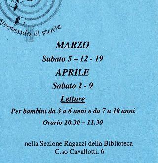 Vieni alla Biblioteca ragazzi Novara  ad ascoltare bellissime storie!