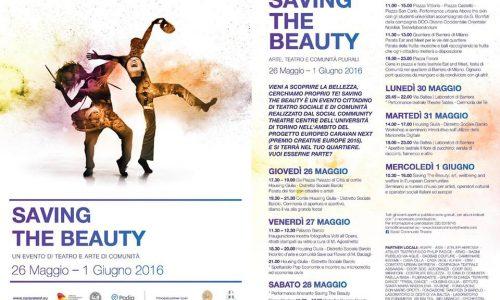 """A Torino """"Saving the beauty"""", l'evento cittadino di teatro sociale e di comunità"""