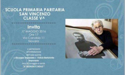 All'Istituto San Vincenzo di Novara un 'aula intitolata a Peppino Impastato