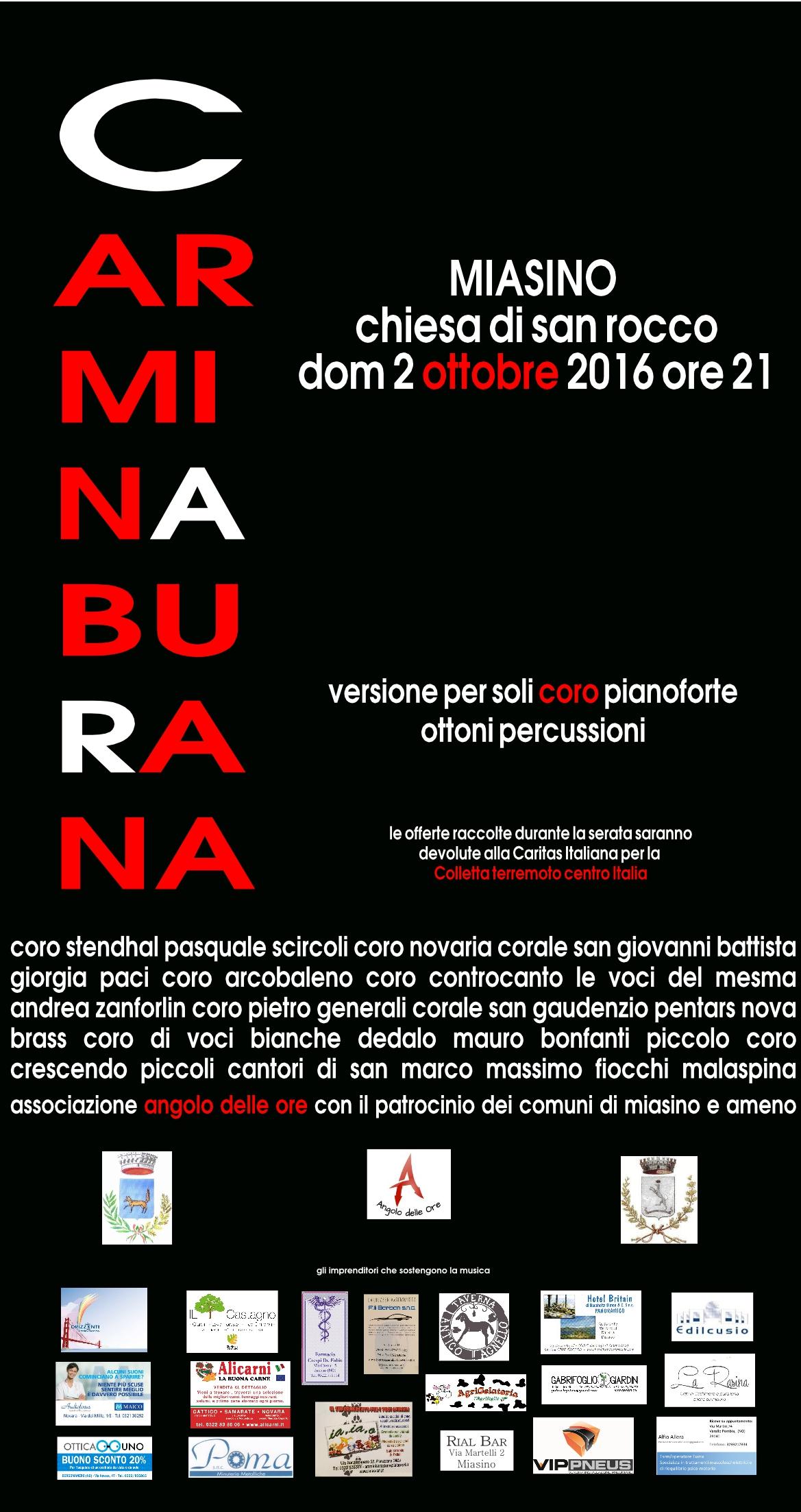 Mailing Carmina Burana Miasino 2 ottobre
