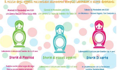 STORIE DI PLASTICA:alla Libreria Paoline di Novara laboratorio sul reciclaggio per bambini da 6 a 10 anni