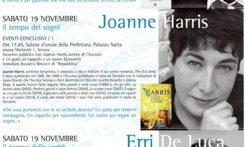 """""""Scrittori & giovani"""": dal 12 al 19 novembre i grandi autori incontrano scuole e pubblico a Novara"""