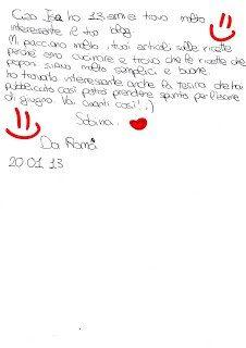 Sabrina ci scrive…