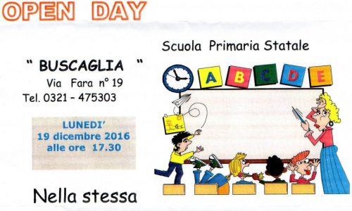 Il 19 dicembre Open Day alla scuola Primaria Buscaglia di Novara: un importante appuntamento per genitori e bambini