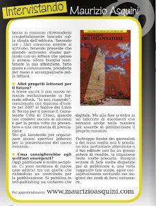 Ricordando le nostre interviste:lo scrittore novarese Maurizio Asquini