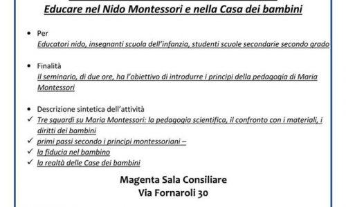"""Maria Montessori """"Aiutami a fare da solo"""", un corso su come educare nel nido e nella casa dei bambini"""