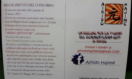 Concorso Hajimè: disegna l'Aikido Camp e vinci uno sconto per il tuo summer camp a Druogno