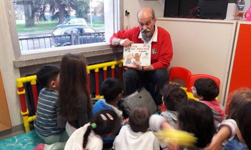 Alla scuola dell'infanzia Elve tante divertenti letture con Pier Paolo Pilò
