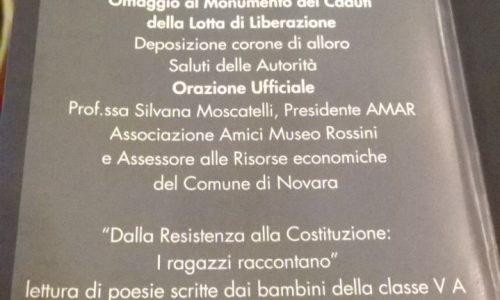 Gli alunni della scuola secondaria dell'Istituto Margherita Hack ricordano la Liberazione