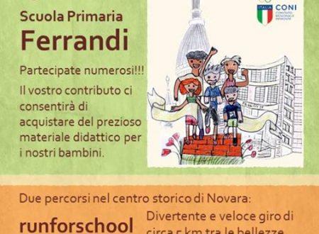 Il 5 giugno tutti in gara alla Runforschool della scuola primaria Ferrandi di Novara!