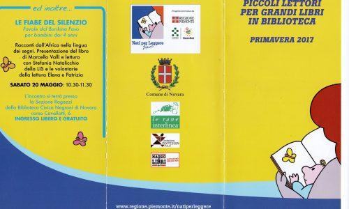 Nati per leggere: a maggio e giugno a Novara appuntamenti per grandi e piccini!