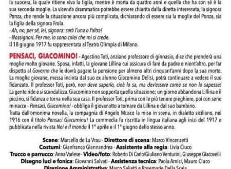 """Continuano a Roma gli appuntamenti teatrali di """"Pirandelliana 2017"""""""
