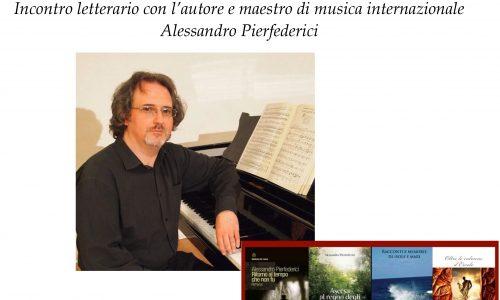 Lo scrittore e maestro di musica Alessandro Pierfederici il 7 novembre alla Biblioteca di Novara