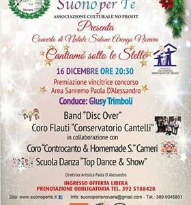 """""""Cantiamo sotto le stelle"""",il 16 dicembre concerto di Natale a Novara"""