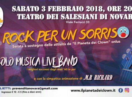 """""""Rock  per un sorriso"""", il Pianeta Clown in scena al Teatro dei Salesiani di Novara"""