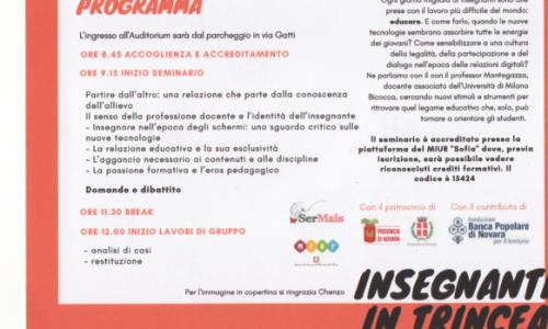 """""""Insegnanti in trincea-educarsi a una vita oltre gli schemi"""": seminario all'università Bicocca di Milano"""