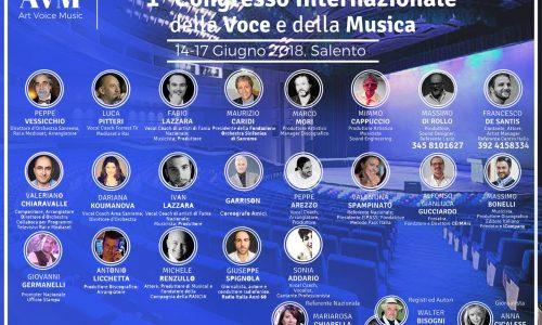"""1° Congresso della Voce e della Musica """", 14-17 Giugno 2018 – Salento"""