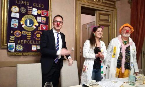 Bobo Sun al Lions Club di Vercelli per testimoniare la gioia del volontariato