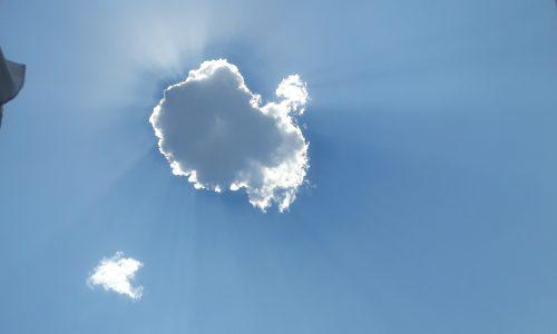 Nuvole coccolate dal sole siciliano…