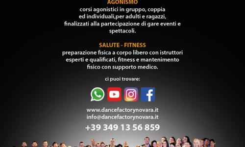 Ripartono i corsi di ballo alla DanceFactory di Novara