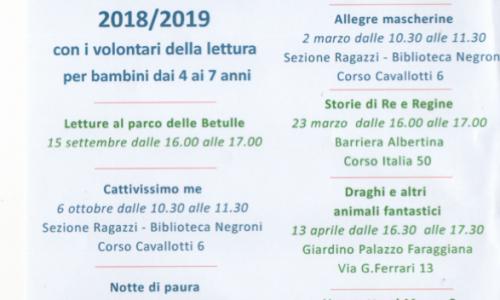 """Letture per tutti i gusti"" alla Biblioteca civica ragazzi di Novara"