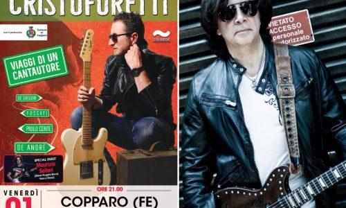 Michele Cristoforetti in concerto il 1 Marzo al Teatro De Micheli di Copparo, special guest Maurizio Solieri