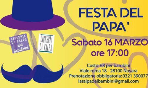 """""""Festa del papà"""", domani laboratorio per bambini alla libreria La Talpa di Novara"""