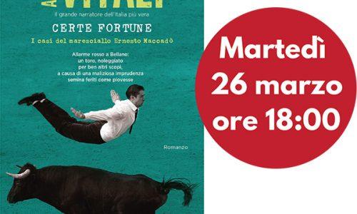 """Andrea Vitali presenta a Como il suo ultimo romanzo, """"Certe fortune"""""""