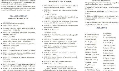 """""""I disturbi dello spettro autistico, segni precoci e interventi possibili"""": il 17 e il 18 ottobre a Novara"""