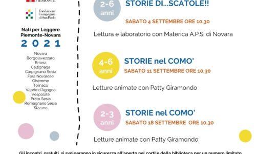 Alla Biblioteca Negroni di Novara si riparte con le letture e i laboratori  per i più piccoli!